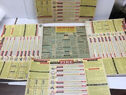 5 Antique 1957 And 1962 Chevrolet Dealer - Fire Prevention Tools - Poster Signs