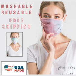 Face Mask Reusable Breathable Men Women Unisex Mouth Cover Made in U $8.99