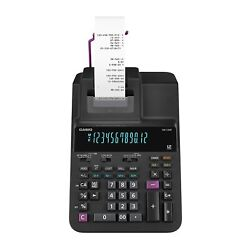 Casio Office Products Dr-120r Full-sized Printing Calculator Blackdesktop