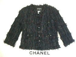 Rare Chanel Jacket 06C No Color Type Second Hand From JAPAN No.35831