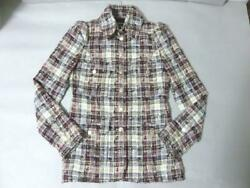 Rare Chanel Jacket Shirt Collar 08C6041 Second Hand From JAPAN No.35833