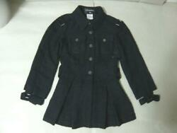 Rare Chanel Jacket Trench Pleated 6042 Second Hand From JAPAN No.35761