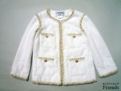 Rare Work 12Cr Chanel Jacket Second Hand From JAPAN No.35989
