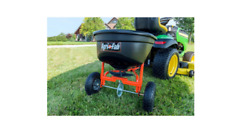 Lawn Fertilizer Seed Spreader Salt Tow Pull Behind Tractor Broadcast Easy To Use