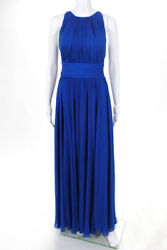 Badgley Mischka Collection Womens Blue Corundum Sapphire Gown	$790 Size 6 106206