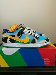 Nike Sb Dunk Low Ben And Jerry's Men's Us Size 10 Cu3244100 Chunky Dunky