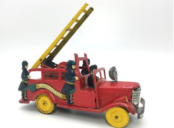 Japanese Antique Toys Made In Japan In The 1950s Bonnet Fire Engine Firefighter