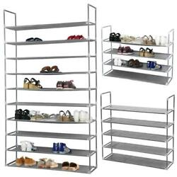 10 Tier 50 Pairs Non woven Fabrics Shoe Rack Adjustable Organizer Shelf Storage