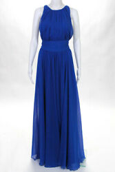 Badgley Mischka Collection Blue Corundum Sapphire Gown 790 Size 10 10102178