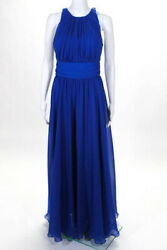 Badgley Mischka Collection Blue Corundum Sapphire Gown 790 Size 6 10431306