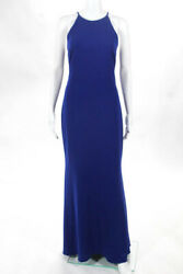 Badgley Mischka Collection Blue Cobalt Racing Gown 660 Size 10 10297867