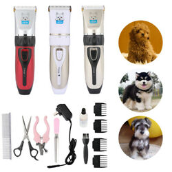 Rechargeable Pet Dog Cat Animal Clippers Hair Grooming Cordless Trimmer Shaver