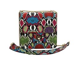 Virago Multi Snakeskin Multicolor Crossbody for Womens Different color available $36.99