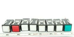 Lot Of 8 Micro Switch Aml 10 Series Pushbutton Switches 0304 4.5-24v / 28v Max