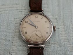 1932 Large Size Steel Screw Back And Front Longines Officers 12.68z Movement
