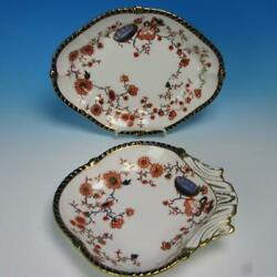 Royal Crown Derby - Haddon - Rn 56464 - Oval And Shell Shaped Dishes Dish