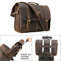 Men Real Leather Briefcase 16