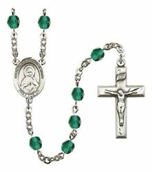 December Birth Month Prayer Bead Rosary With Immaculate Heart Of Mary Centerpiec