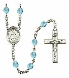 March Birth Month Prayer Bead Rosary With Immaculate Heart Of Mary Centerpiece,