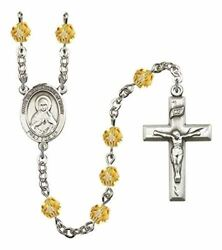 November Birth Month Prayer Bead Rosary With Immaculate Heart Of Mary Centerpiec