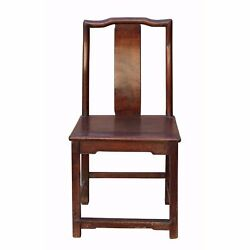 Traditional Chinese Antique Restore Solid Rosewood Light Brown Chair N168-1