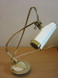 Vintage Cannon Products Harp Desk Piano Lamp Weighted Basebrass Finish