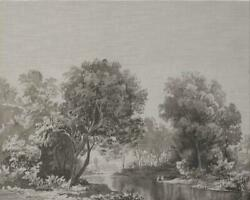 Wall Art Print Forest Reflection Inspired By An English 19th C Grisaille W