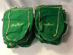 Lot of 23 Royal Crown Green amp; Gold Bags 9 Inches Crafts Quilts Storage $29.99