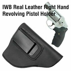 Iwb Right Hand Real Leather Revolver Holster Fit 38 Special Revolver Ruger Lcr