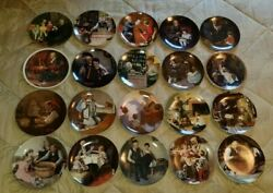 Norman Rockwell Collector Plates Lot Of 20 , Limited Edition Vintage Knowles Coa