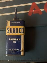 Sunoco Household Oil Oiler Can Made In 1937 1001 Uses Sun Oil Company Nice