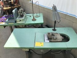 Industrial Hemming Overlock And Buttonhole Sewing Machines With Tables Used
