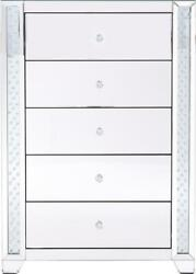 Chest Of Drawers Modern Contemporary 34-in Clear Mirror Crystal Mirrors 5