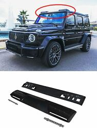 G Wagon Brabus 2019 Style Carbon Fiber Front Roof Spoiler Led Drl For Mercedes