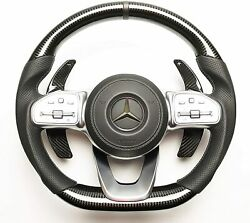 G Wagon Mercedes Steering Wheel Carbon Fiber Customized - For Mercedes Benz