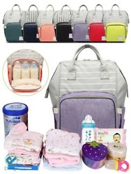 Nappy Diaper Mummy Bag Multifunction Travel waterproof Large Baby Backpack US $19.95