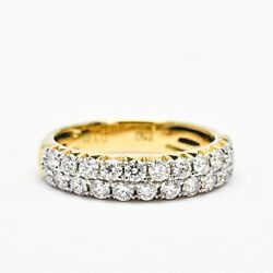 18 Kt White Gold Two Line French Pave Set Natural Diamonds Band R170196