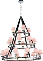 Cascade Pendant Lamp Transitional Polished Nickel Metal Wire Brass Bronze