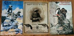 Reproduction Vintage Rifle, Pistol Ads Tin Signs Remington Colt's Smith And Wesson