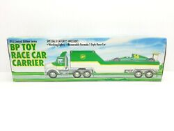 Vintage 1993 Bp Toy Race Car Carrier Truck Trailer - Limited Edition Series