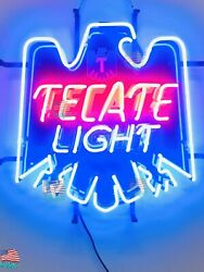 New Tecate Light Beer 19x17 Neon Sign Lamp Hd Vivid With Dimmer