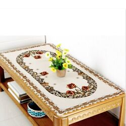 Embroidered Flower Tablecloths Cover Hollow Lace Daisy Dresser Scarf Table Linen