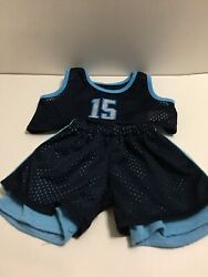 Animaland Stuff Your Own Collectible Colthes Basketball Jersey Blue Fits Babw