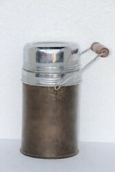 Brass Thermos Old Vintage Antique Rare Decorative Collectible J-59