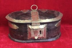 New Wooden Brass Case Box Antique Home Decor Collectible Christmas Gifts Pl-36