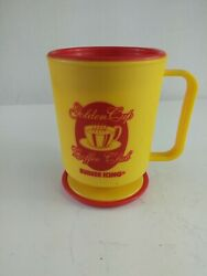 Vintage Burger King Golden Cup Coffee Club Lid And Base Clip