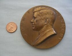 Liberty For All John F Kennedy Bronze 3 Medal Inauguration 1961 Gilroy Roberts