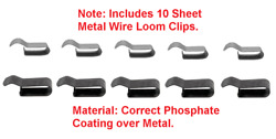10 Sheet Metal Loom Clips Fits All Mopar Charger Challenger Cuda A B C And E Body