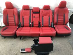 2016-21 Lexus Rx450h F Sport Complete Red Leather Interior Seats Front Rear Set