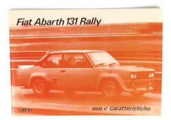 Fiat 131 Abarth Users Manual New